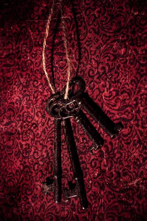 Vintage skeleton keys on twine