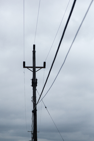 utility pole: Telephone Pole and Utility Lines