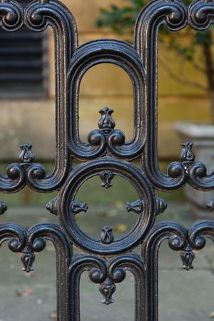 suspenso: detalles en hierro forjado en Savannah, Georgia Foto de archivo