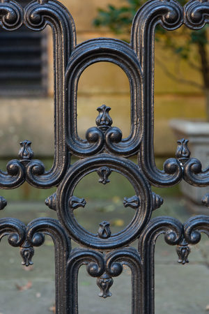 suspense: Wrought iron details in Savannah, Georgia