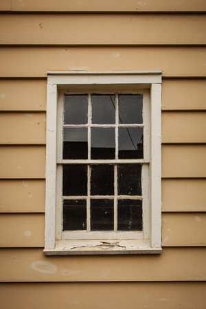 window panes: Old window with glass panes Stock Photo