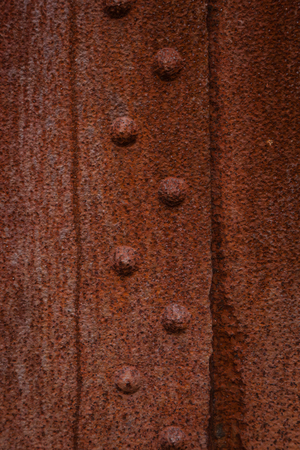rivets: Rusty iron rivets Stock Photo