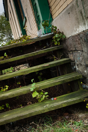 dilapidated: Dilapidated stairs