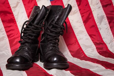 foots: A pair of combat foots with an American Flag.