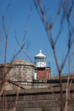 staten: The lighthouse on top of the Battery Weed is seen at Fort Wadsworth on Staten Island.