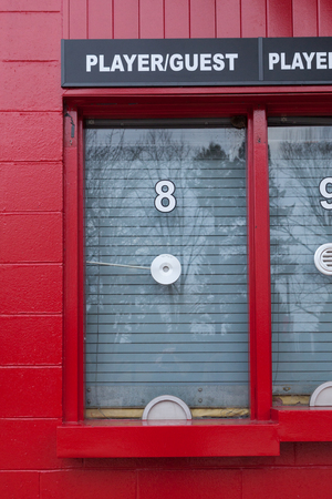 PISCATAWAY, NEW JERSEY - January 4, 2017: The ticket booths outside High Point Solutions Stadium are shown Editorial