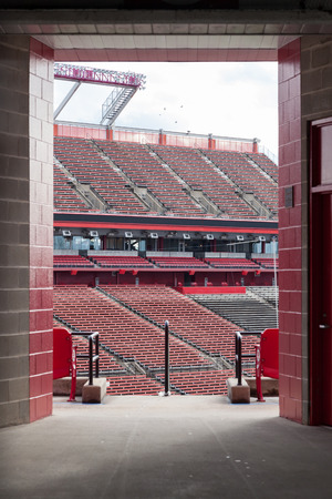 PISCATAWAY, NEW JERSEY - January 4, 2017: Looking into the interior of the High Point Solutions Stadium, home of the Rutgers University Football team