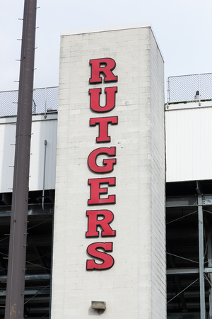 PISCATAWAY, NEW JERSEY - January 4, 2017: The exterior of the Rutgers University soccer stadium is shown on a cloudy winters day Editöryel