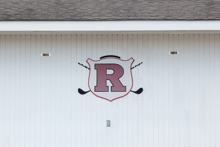 PISCATAWAY, NEW JERSEY - January 4, 2017: A view of one of the buildings on the Rutgers University Golf Course Editorial