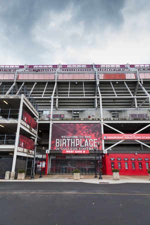 PISCATAWAY, NEW JERSEY - January 4, 2017: A view of Rutgers High Point Solutions Stadium on a Cloudy Winters Day Editorial