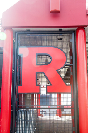 PISCATAWAY, NEW JERSEY - January 4, 2017: A view of the details on the exterior of Rutgers High Point Solutions Stadium
