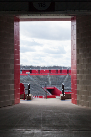 PISCATAWAY, NEW JERSEY - January 4, 2017: A view looking into the interior of High Point Solutions Stadium at the Rutgers Busch Campus