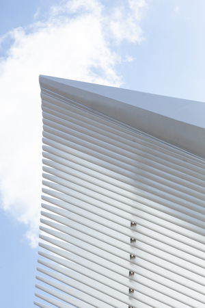 NEW YORK, NEW YORK - April 5, 2018: A view of the details of the Oculus building in Lower Manhattan Sajtókép