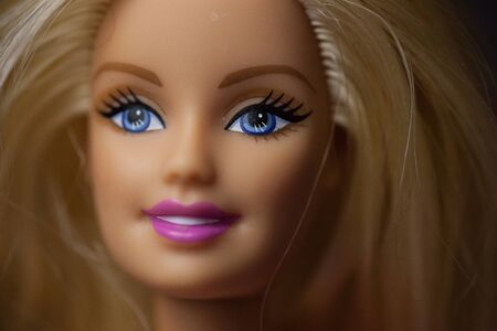 WOODBRIDGE, NEW JERSEY - May 10, 2019: A 2000s era Barbie Doll is posed for a headshot
