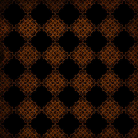 Digital paper is designed in a vintage grunge style with black and orange colors. This one is done in a lace pattern.