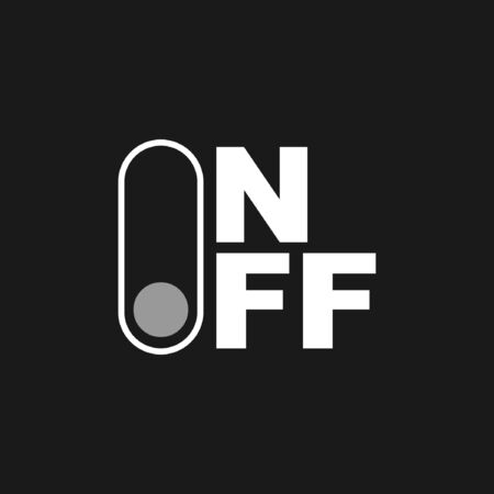 on and off logo icon design