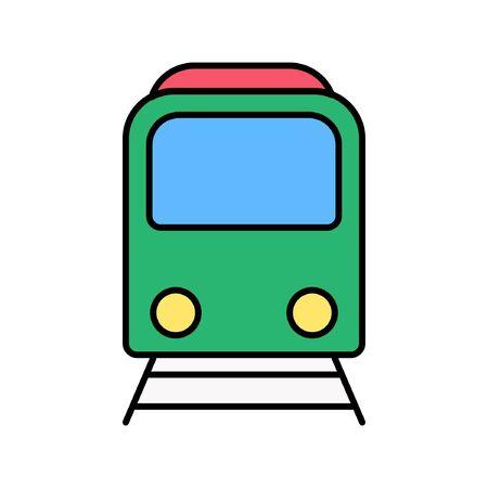 vector illustration flat design train icon logo