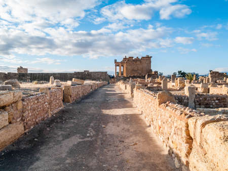 The archaeological site of Sbeitla is located in Sbeitla in Tunisia, in what was the Roman city of Sufetula and preserves the remains of important public monuments.