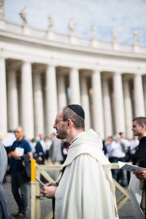 Italy-Rome - 7 September 2017 - celebration of the pilgrimage of the summit pontificum for the tenth anniversary, priests and religious and nuns in procession through the streets of Rome and the Vatican Editorial