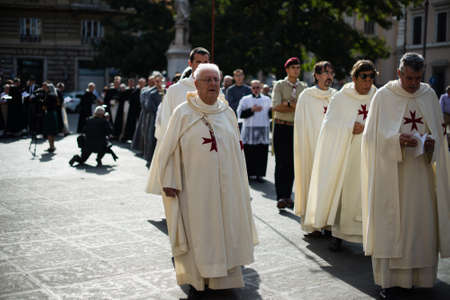 Italy-Rome - 7 September 2017 - celebration of the pilgrimage of the summit pontificum for the tenth anniversary, priests and religious and nuns in procession through the streets of Rome and the Vatican