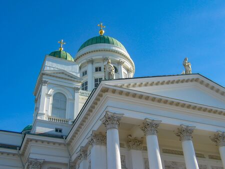 Helsinki Cathedral dominates the urban landscape and is the symbol of the city. It is the main church of the Helsinki diocese of the Evangelical Lutheran Church of Finland.