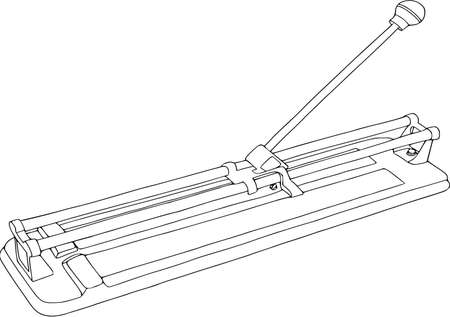 Tool isolated on white illustration.