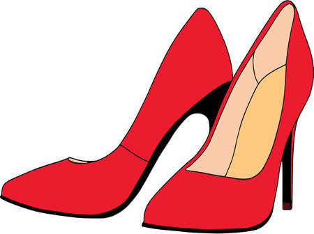 Ladies shoes colored set - scarpin. Isolated, fashion, white background.