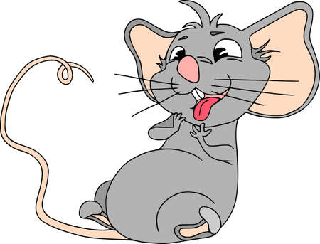 Happy Chinese new year calendar, greeting card. Cute mouse, rat in poses. Animal cartoon set. Licked looking at a treat