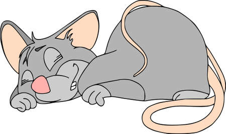 Happy Chinese new year calendar, greeting card. Cute mouse, rat in poses. Animal cartoon cartoon set. Sleeps happy