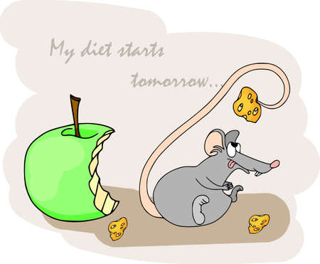 Happy Chinese new year calendar, greeting card, Cute mouse, rat in poses. Animal cartoon set, card with text. Rat and snacks.
