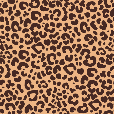 Seamless pattern of hand drawn sketch style leopard skin texture. Vector illustration. Векторная Иллюстрация