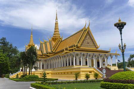 cambodia: royal palace in phnom penh in cambodia