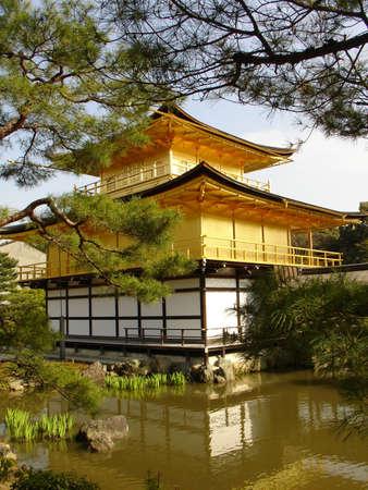 golden temple kinkakuji in kyoto japan