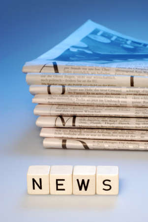winepress: news newspaper business abstract information Stock Photo