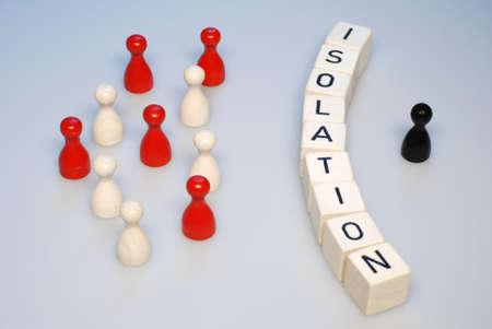 wees: sociaal isolement alleen eenzaamheid illustratie