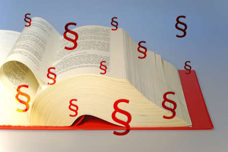 infringement: big book about law and rights Stock Photo