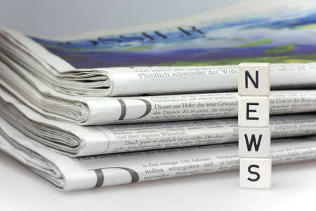 news newspaper business abstract information Stock Photo