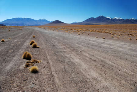 Roads in the desert of Bolivia