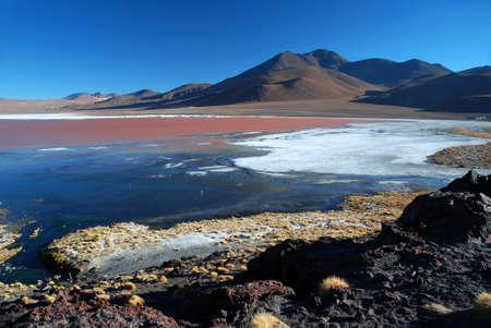 oxygene: Laguna Colorada lake and landscape in Bolivia
