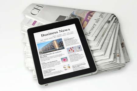 newspapers: gedrukte of elektronische nieuws pers
