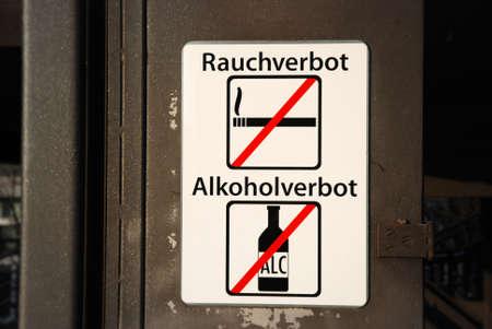 non smoking: Non Smoking and non alcohol sign in public