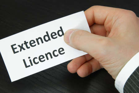 licence: Extended Licence Sign with Human Hand
