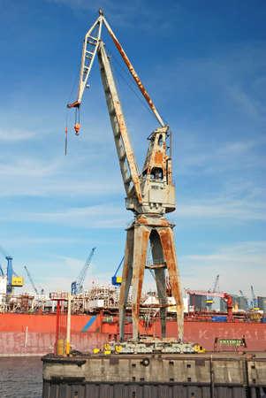 corrosion: big harbor crane corroding
