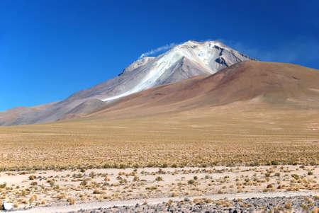 oxygene: smoking volcano in the bolivian chilean atacama desert