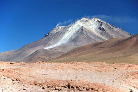 atacama: smoking volcano in the bolivian desert