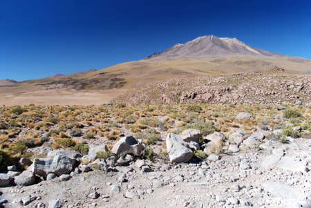 volcano in the dry bolivian chilean desert Stock Photo - 14488905