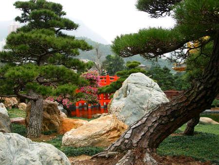 Japanischer Garten Standard-Bild