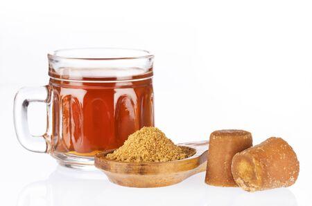 typical colombian drink aguapanela - Saccharum officinarum