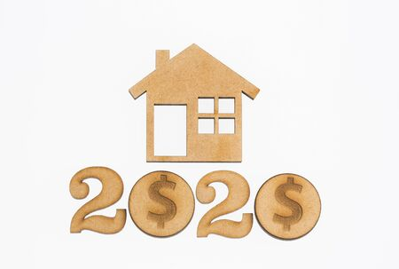 Saving for home purchase - 2020. White background Stock fotó