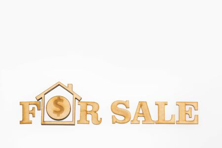 Sale of housing - Concept. White background